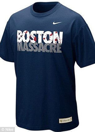 "Nike has decided to remove its T-shirts emblazoned with ""Boston Massacre"" from shelves after outcry over their insensitivity in the wake of the city's bombings"