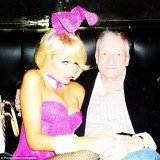 Paris Hilton joined Hugh Hefner and his ladies at the Playboy mansion for the annual egg hunt