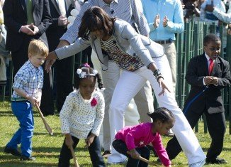President Barack Obama and First Lady Michelle Obama kicked off White House Easter Egg Roll 2013