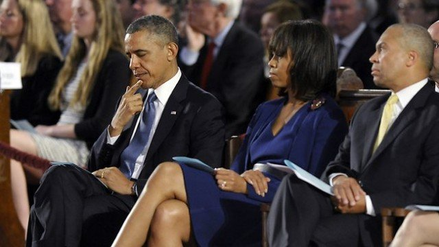President Barack Obama has attended a memorial service for victims of the Boston Marathon bombing