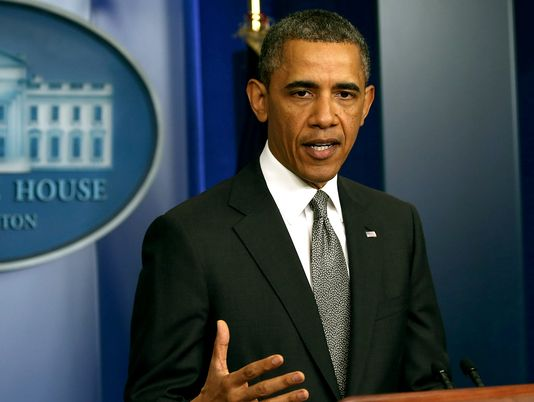 President Barack Obama has condemned the Boston Marathon bombings as a terrorist act