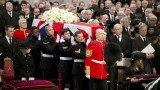 Queen Elizabeth II has led mourners in St Paul's Cathedral in London at the funeral of Margaret Thatcher