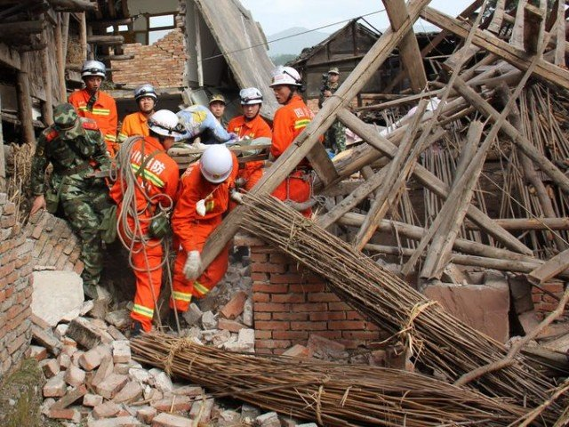 Rescue teams in China are struggling to reach survivors of 6.6-magnitude earthquake that killed 203 and injured some 11,500 in Sichuan province