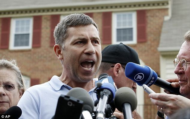 Ruslan Tsarni held a press conference outside of his home in Montgomery Village, Maryland