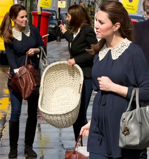 Six-month pregnant Kate Middleton and her mother were spotted in upmarket South Kensington together, browsing some of the London's most exclusive baby stores