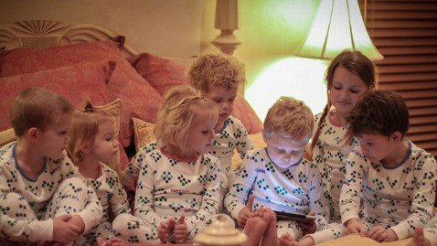 Smart interactive pajamas which, when scanned with a camera phone or tablet, can tell bedtime stories, have been invented by Juan Murdoch, a father-of-six from Idaho Falls