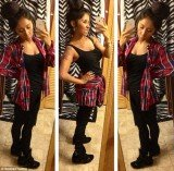Snooki shows off her sleek new look and posts a triple image of herself on Twitter after she managed to lose 40 lbs since giving birth last August