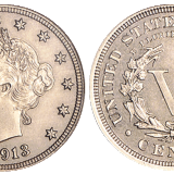 The 1913 Liberty Head nickel, one of only five such coins, has been sold for $3.1 million at a Heritage auction in Chicago