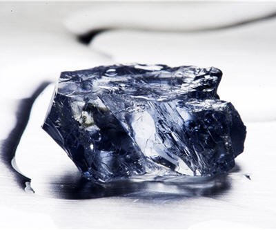 The 25.5 carat blue diamond was recovered by Petra Diamonds at its Cullinan mine in South Africa photo