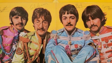 The autographed copy of The Beatles' album Sgt. Pepper's Lonely Hearts Club Band has been bought for $290,500
