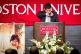 The family of Chinese graduate student Lu Lingzi attended a memorial service at Boston University for their daughter