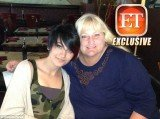 The first public picture of Paris Jackson and Debbie Rowe together, as they celebrated the teenager's 15th birthday at Ahi Sushi in Studio City, California, on April 3