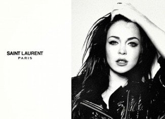 The spoof Saint Laurent ad is, in fact, an edited shot of Lindsay Lohan modeling for Fornarina in fall 2010