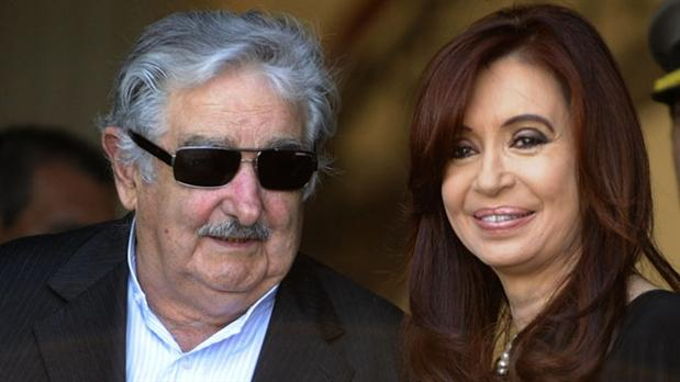Uruguayan President Jose Mujica was caught on microphone apparently referring to Argentina's President Cristina Fernandez de Kirchner as an old hag