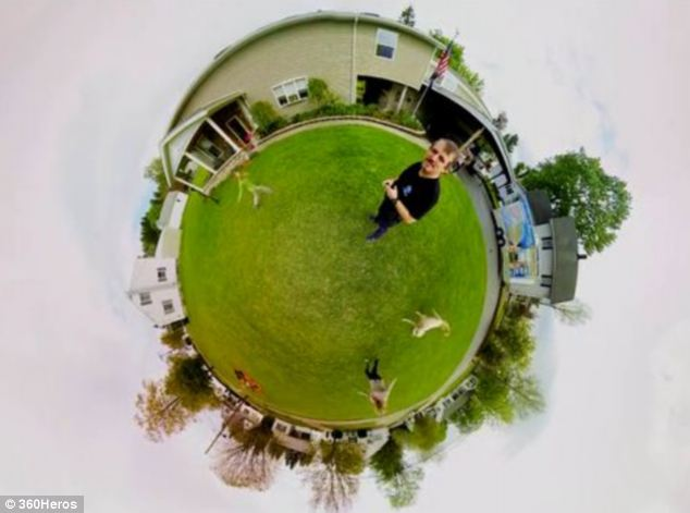 360-degree shot taken using the 360Heros mount