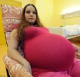 Alexandra Kinova from Czech Republic has beaten staggering odds to become pregnant with quintuplets without using IVF