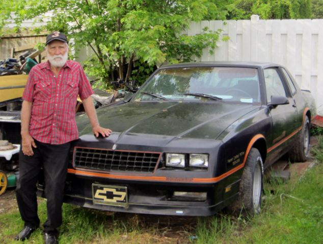 Amanda Berrys grandfather Troy Berry with the Chevrolet 1986 Monte Carlo SS Nascar limited edition that he promised her ten years ago photo