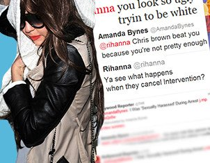 Amanda Bynes posted a series of racist and offensive remarks about Rihanna and her relationship with Chris Brown
