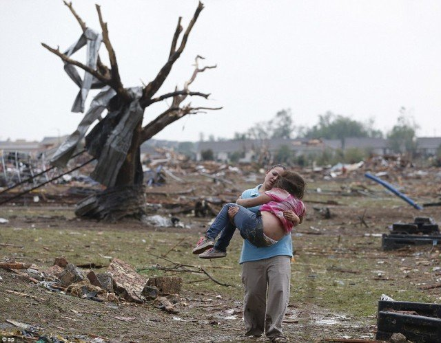 At least 51 people have been killed after a huge tornado tore through Oklahoma City suburbs