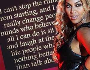 Beyoncé is clearly not happy about the pregnancy buzz in the press