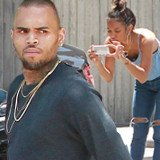 Chris Brown was involved in a minor car accident after he rear ended another car, and none other than Karreuche Tran was seen standing with him at the scene