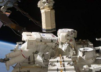 Chris Cassidy and Tom Marshburn are carrying out an emergency spacewalk to fix a leak of ammonia from the ISS's cooling system
