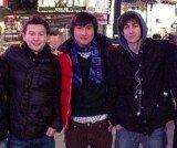 Dias Kadyrbayev and Azamat Tazhayakov with Dzhokhar Tsarnaev