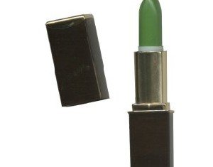 Green lipstick contains a dye called Red 27, which reacts to the pH balance and temperature of the wearer's lips, causing the color change
