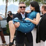 Hilaria Baldwin picked up by husband Alec during Cannes 2013 photocall
