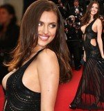Irina Shayk almost suffered a wardrobe malfunction as she arriv