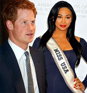 It was Prince Harry's height, a lofty 6ft 2in, that has caught the eye of his latest admirer, none other than Miss USA Nana Meriwether