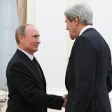 John Kerry held lengthy talks with Russian President Vladimir Putin on Tuesday during his first visit to Moscow since becoming secretary of state