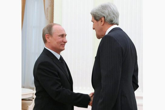John Kerry held lengthy talks with Russian President Vladimir Putin on Tuesday during his first visit to Moscow since becoming secretary of state photo