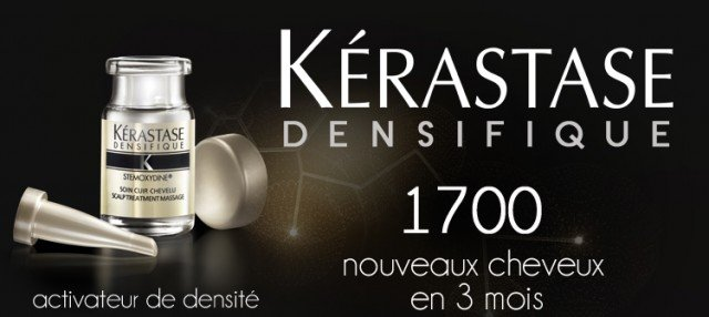 Kérastase Densifique, which has been hailed as a major breakthrough, stimulates the scalp to wake up dormant follicles