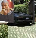 Kanye West's stunning $750,000 Lamborghini has been crushed after getting trapped in Kim Kardashian's electric gates