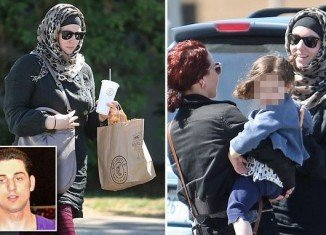 Katherine Russell Tsarnaev laughed and chatted with a friend at Mexican fast-food Chipotle along with her 3-year-old daughter, Zahara