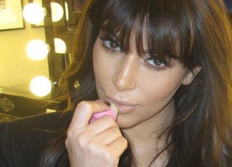 Kim Kardashian posted a series of the glamorous images online