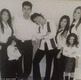 Kris Jenner posted several old pictures, showing her large brood as youngsters