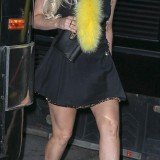 Lady Gaga has been reunited with her favorite heels as she hit the town in New York in her trademark super high boots