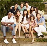 Lamar Odom appears in the Kardashian portrait to promote the new season of their hit reality show Keeping Up With The Kardashians