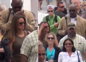 Michael Jordan and his new wife Yvette Prieto surfaced in Greece on Thursday as they enjoyed their honeymoon