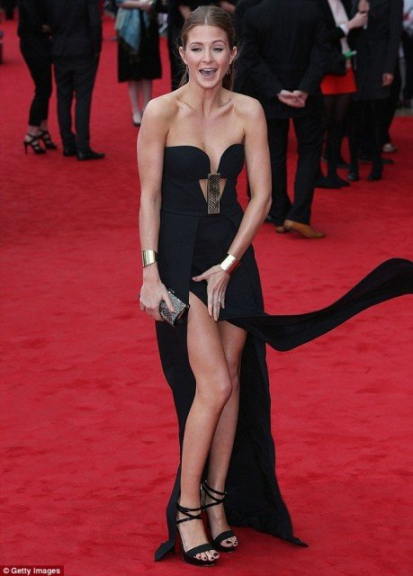 Millie Mackintosh leads the stars suffering wardrobe malfunctions as the wind takes over on the TV BAFTAs red carpet