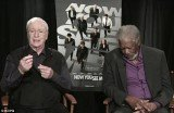 Morgan Freeman could not stay awake and was grabbing forty winks during a live interview with Q13 FOX News This Morning