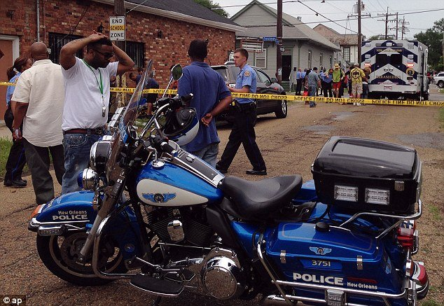 Nineteen people have been wounded after three gunmen opened fire at New Orleans Mother's Day parade