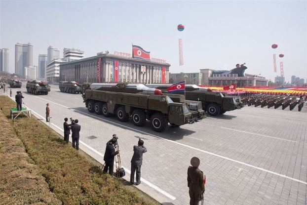 North Korea has removed two medium range missiles from a coastal launch site indicating a lowering of tension on the peninsula photo