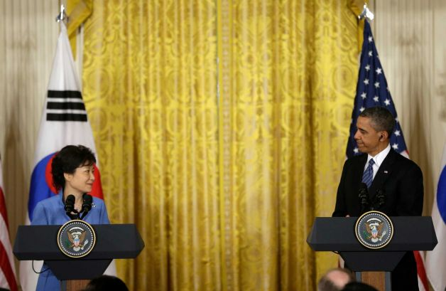 North Korea will no longer be rewarded for provocative behavior, said President Barack Obama at a joint news conference with South Korea's President Park Geun-hye