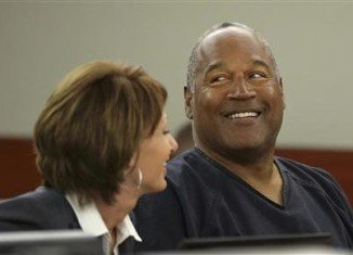 OJ Simpson appeared in court noticeably greyer and heavier than he did in his last public appearances