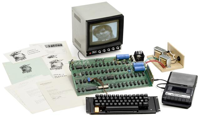 One of only six original Apple 1 computers from 1976 still in working order has sold at auction in Germany for more than 500000 euros photo