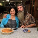 Phil Robertson and his wife Miss Kay sliced some sweet potato pie and filled their audience in about Clayton Homes