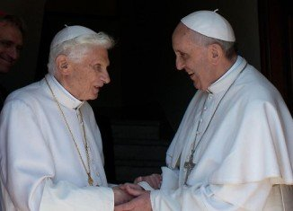 Pope Emeritus Benedict has returned to the Vatican, two months after becoming the first pontiff to resign in 600 years